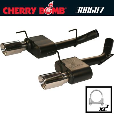 2005-2010 Ford Mustang GT Cherry Bomb Extreme Axle Back Exhaust System