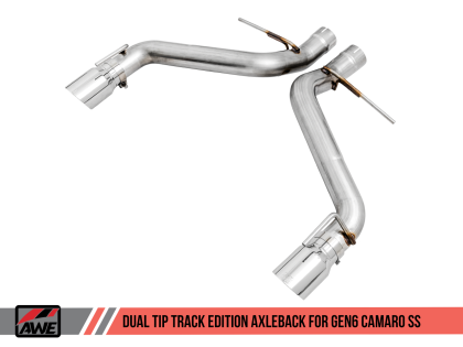2016+ Camaro SS 6.2L V8 AWE Tuning Track Edition Axleback Exhaust System w/Chrome Silver Tips