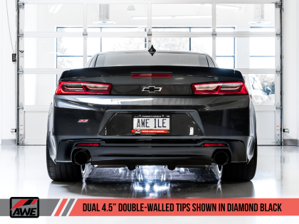 2016+ Camaro SS 6.2L V8 AWE Tuning Touring Edition Axleback Exhaust System w/Diamond Black Tips