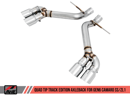 2016+ Camaro SS 6.2L V8 AWE Tuning Track Edition Axleback Exhaust System w/Chrome Silver Quad Tips