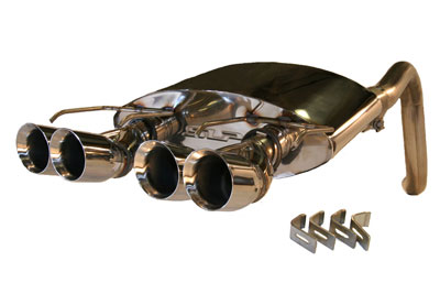 2009+ C6 Corvette SLP PowerFlo Exhaust system with Split Round Tips