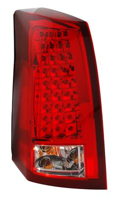 2004-07 Cadillac CTS-V Anzo Rear LED Tail Lights - Red/Clear Lens w/Chrome Housing