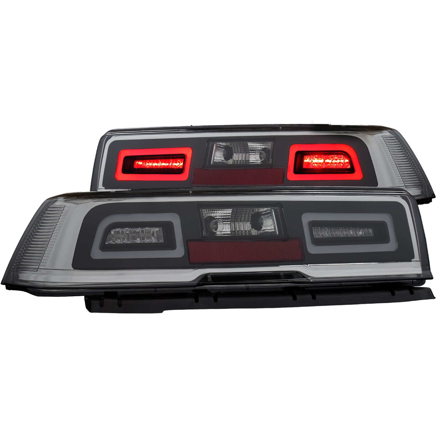2014-2015 Camaro ANZO LED Tail Lights w/Smoke Lens & Black Housing