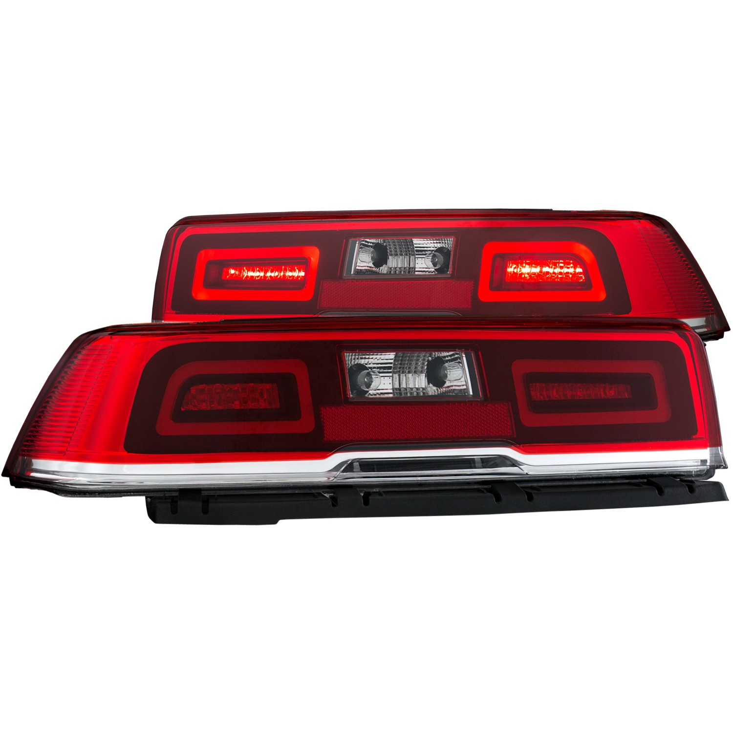 2014-2015 Camaro ANZO LED Tail Lights w/Clear Lens & Red Housing