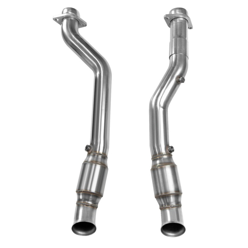 "2018+ Jeep Grand Cherokee Trackhawk Kooks 3"" Inlet x 3"" OEM Outlet Catted Stainless Connection Pipes"