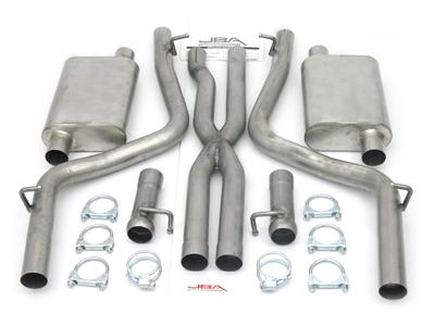 2008-2010 Dodge Challenger R/T 5.7L JBA Cat Back Exhaust System w/X-Pipe
