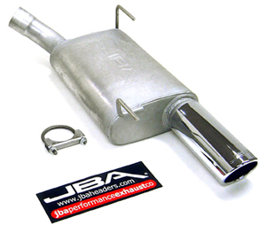 "2005-10 Ford Mustang V6 JBA Performance 2 1/2"" Axleback Exhaust System w/3"" Rolled Tips"