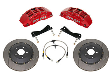 2005+ Ford Mustang Roush Performance Red 6 Piston Front Brake Kit w/2 Piece Rotors