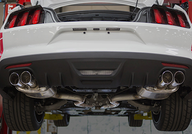 "2015+ Ford Mustang 2.3L Ecoboost Roush Performance ""Active Ready"" Exhaust Kit w/Chome Quad Tips - Convertible Only"