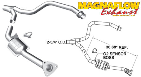 98-99 LS1 Fbody Mangaflow California 40000 Catalytic Converter (Passenger Side)