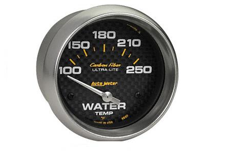 Auto Meter Carbon Fiber Electric Water Temp