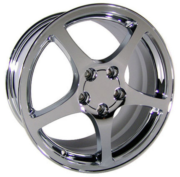 "OE Wheels Corvette C5 Y2K Replica Wheel - Chrome 17x9.5""/18x10.5"" Set (54mm/56mm Offset)"