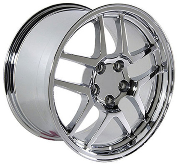 "OE Wheels Corvette C5 ZO6 Replica Wheels - Chrome 17x9.5""/18x10.5"" Set (54mm/56mm Offset)"