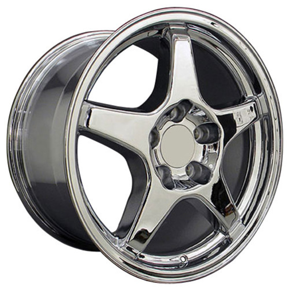 "OE Wheels Corvette C4 ZR1 Replica Wheel - Chrome 17x9.5""/17x11"" Set (56mm/50mm Offset)"