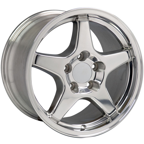 "OE Wheels Corvette C4 ZR1 Replica Wheel - Polished 17x9.5"" (56mm Offset) Set of 4"