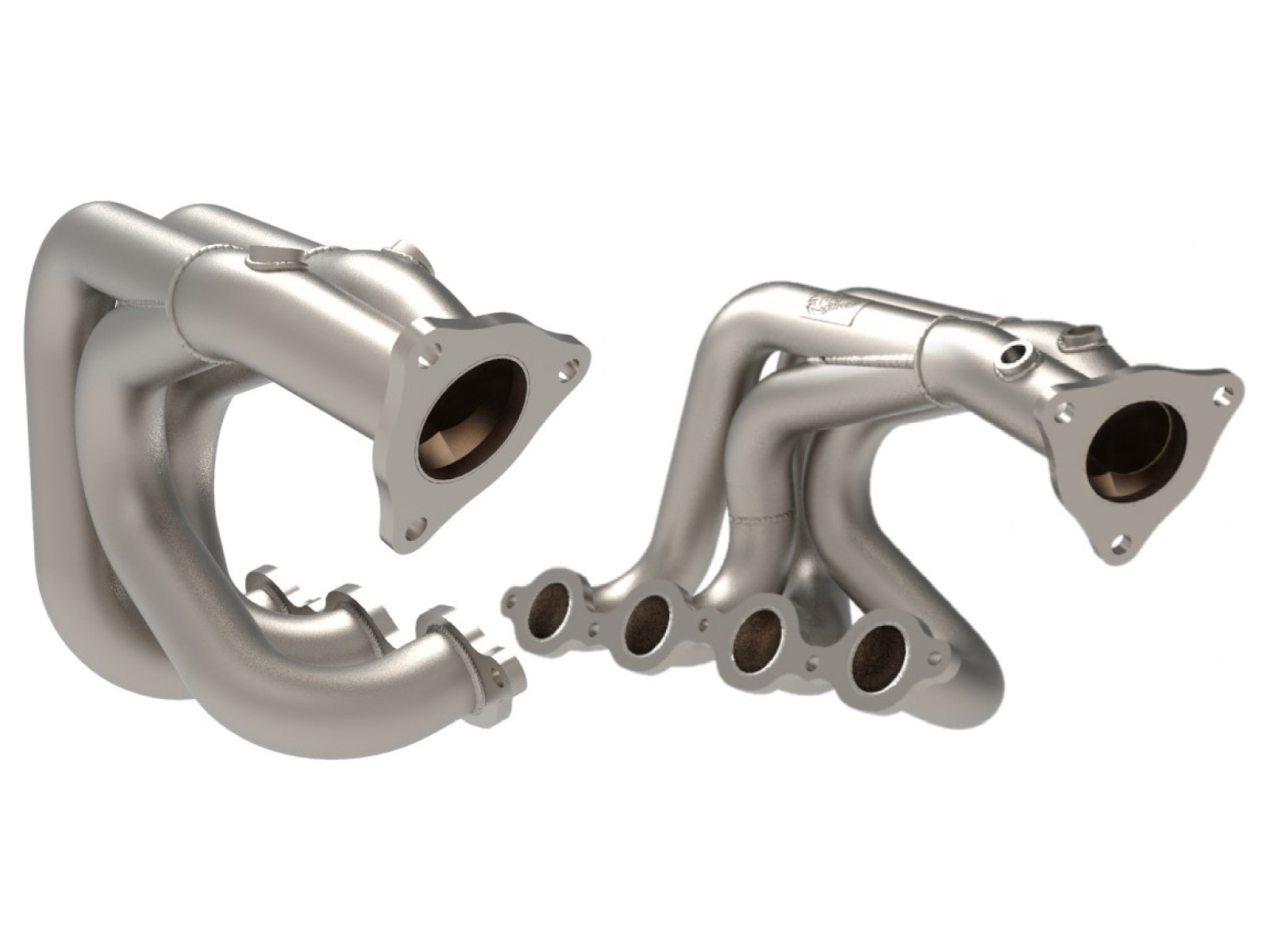 "2020+ C8 Corvtte aFe Power 1 7/8"" Twisted Steel 304 Stainless Steel Headers Titanium Ceramic Coated"