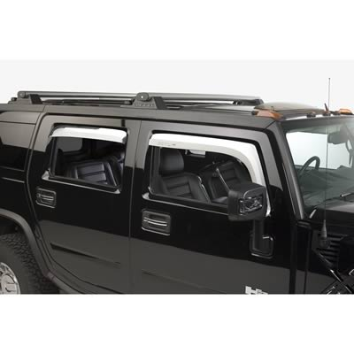 03-07 Hummer H2 Side Window Chrome Visors