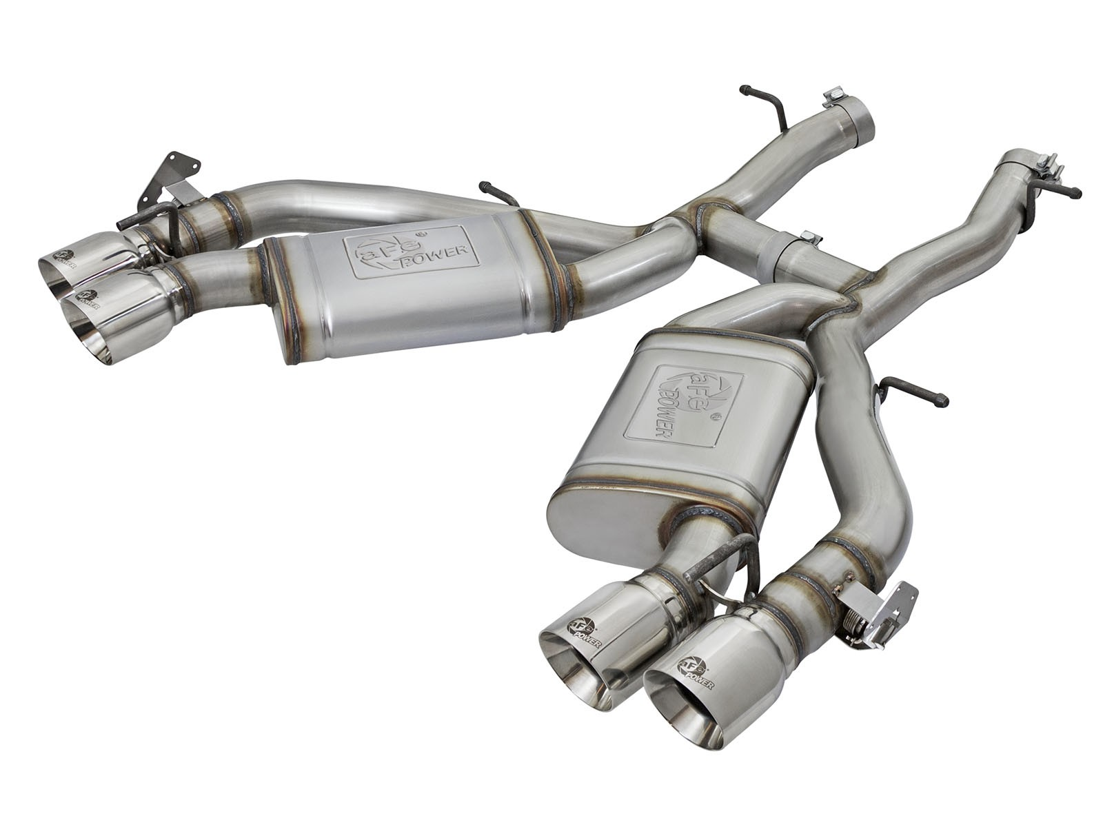 "2016+ Camaro SS 6.2L aFe Power MACH Force-Xp 3"" 304 Stainless Steel Axle-Back Exhaust System w/Polished Tips (NPP)"