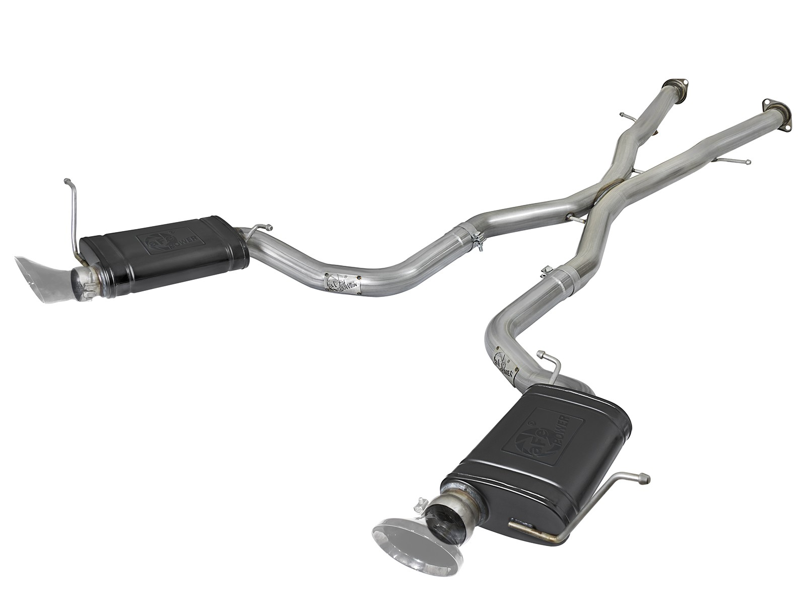 "2012-2019 Jeep SRT8 6.4/6.2L aFe Power MACH Force-Xp 3"" 304 Stainless Steel Cat-Back Exhaust System w/ High Temp Black Mufflers"