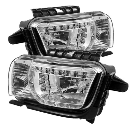 2010-2013 Camaro Spyder LED Crystal Headlights - Chrome