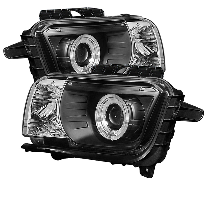 2010-2013 Camaro Spyder Project Headlights w/Dual Halos LEDs - Black