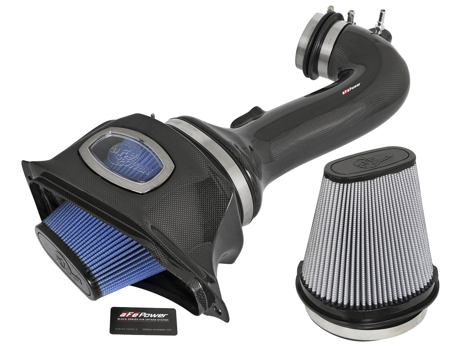 2015+ C7 ZO6 Corvette aFe Power Momentum Cold Air Intake System - Carbon Fiber