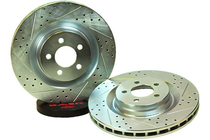 "2006-2014 Dodge Challenger/Charger RT Baer Sport 13.58"" 1 Piece Front Zinc Rotors - Drilled/Slotted"