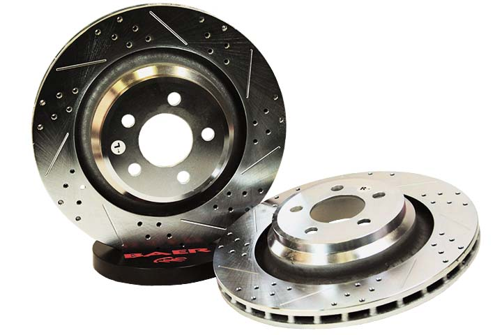 "2006-2014 Dodge Challenger/Charger RT Baer Sport 12.59"" 1 Piece Rear Zinc Rotors - Drilled/Slotted"