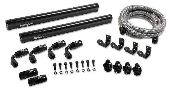 LS7 Holley Hi-Flow Fuel Rail Kit - For Factory LS7 Intake & Holley Injectors