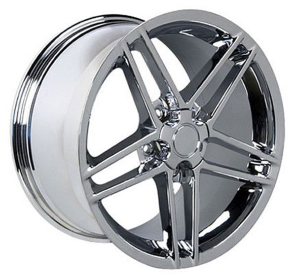 "OE Wheels Corvette C6 Z06 Replica Wheel - Chrome 17x9.5""/18x10.5"" Set (54mm/56mm Offset)"