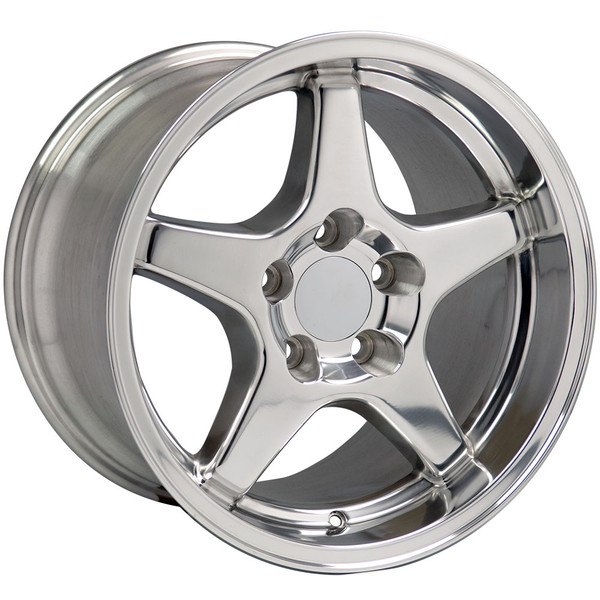 "OE Wheels Corvette C4 ZR1 Replica Wheels - Polished 17x9.5""/17x11"" Set (50mm/56mm Offset)"