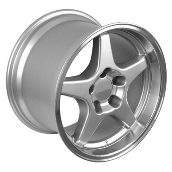 "OE Wheels Corvette C4 ZR1 Replica Wheels - Silver 17x9.5""/17x11"" Set (50mm/56mm Offset)"