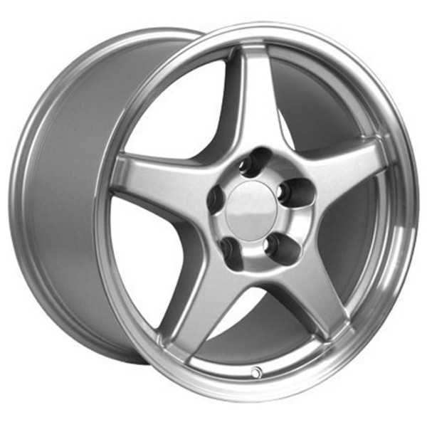 "OE Wheels Corvette C4 ZR1 Replica Wheel - Silver 17x9.5"" (56mm Offset) Set of 4"