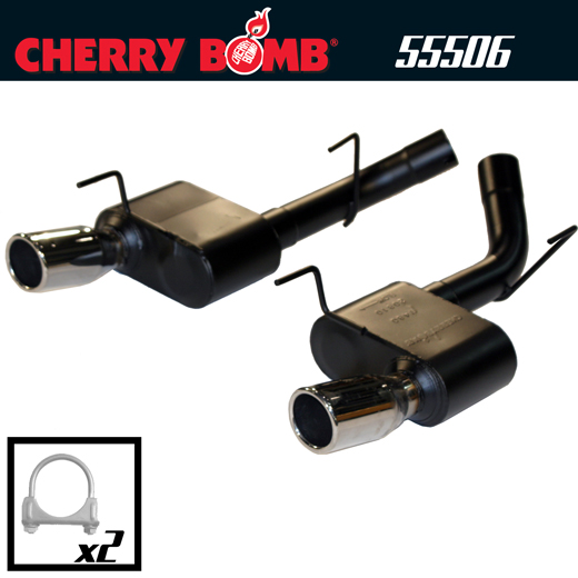 2005-2009 Ford Mustang GT V8 Cherry Bomb Dual Extreme Axleback Exhaust System