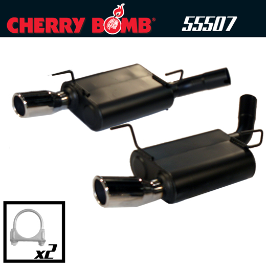 2005-2009 Ford Mustang GT V8 Cherry Bomb Dual Pro Axleback Exhaust System