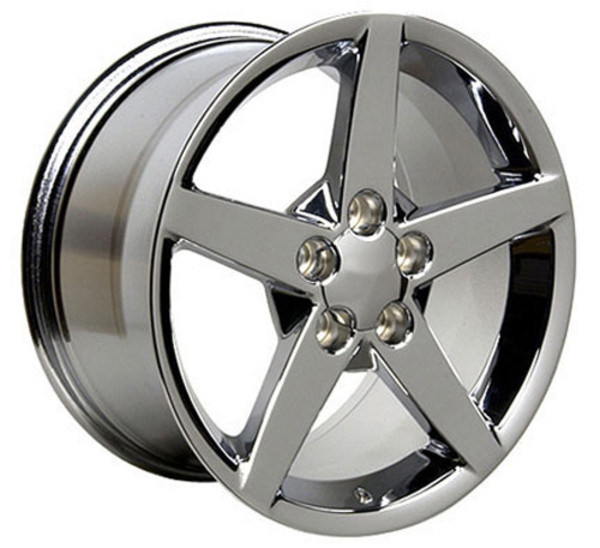 "OE Wheels Corvette C6 Replica Wheel - Chrome 17x9.5""/18x9.5"" Set (54mm/58mm Offset)"