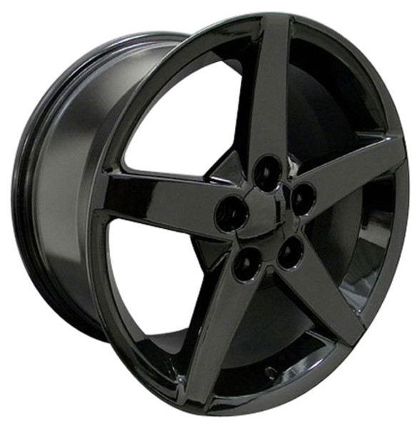"OE Wheels Corvette C6 Replica Wheel - Black 17x9.5""/18x8.5"" Set (56mm/58mm Offset)"