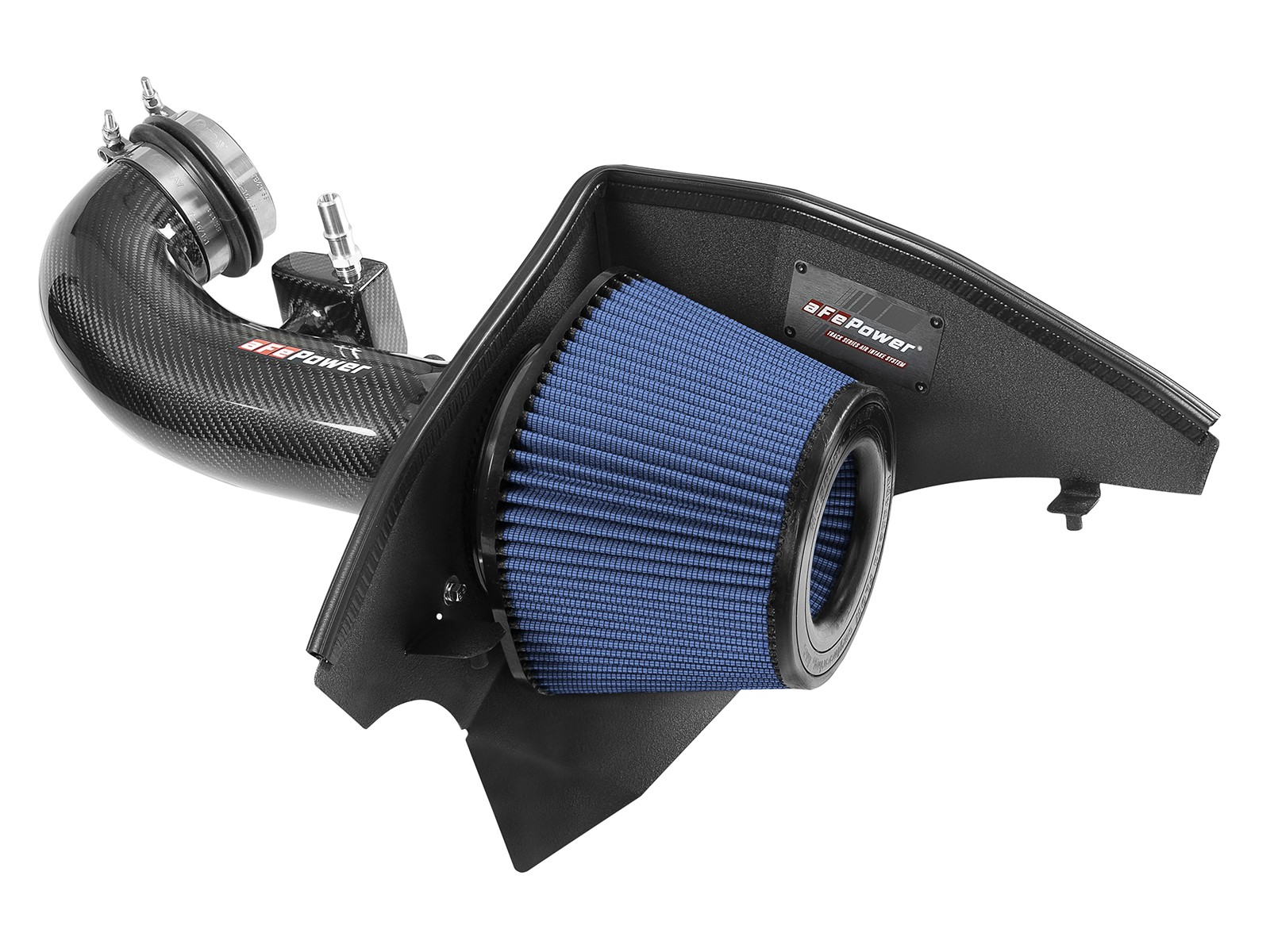 2016+ Camaro SS 6.2L V8 aFe Power Track Series Carbon Fiber Cold Air Intake System w/Pro 5R Filter