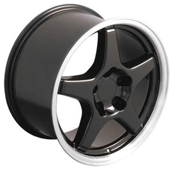 "OE Wheels Corvette C4 ZR1 Replica Wheel - Black 17x9.5"" (56mm Offset)"