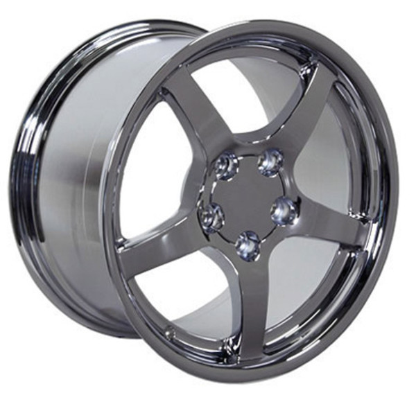 "OE Wheels Corvette C5 Y2K Deep Dish Replica Wheel - Chrome 17x9.5"" (54mm Offset) Set of 4"