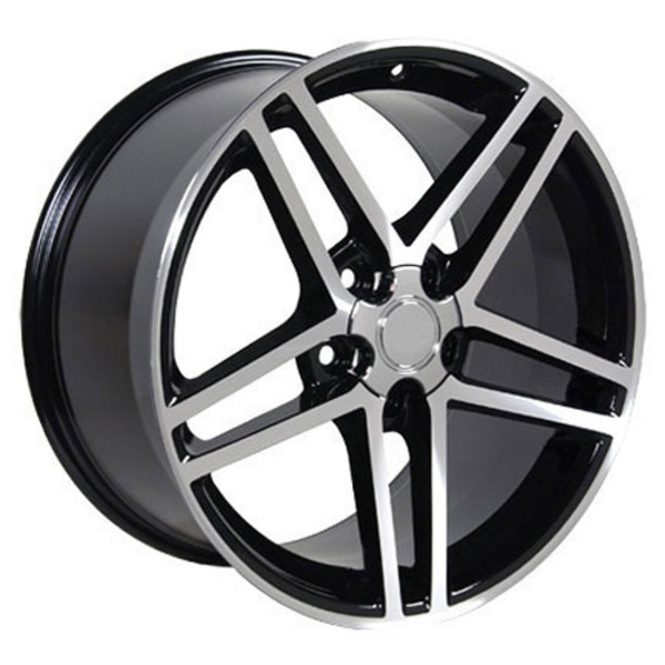 "OE Wheels Corvette C6 ZO6 Replica Wheel - Matte Black Machined Face 18x9.5"" (56mm Offset)"