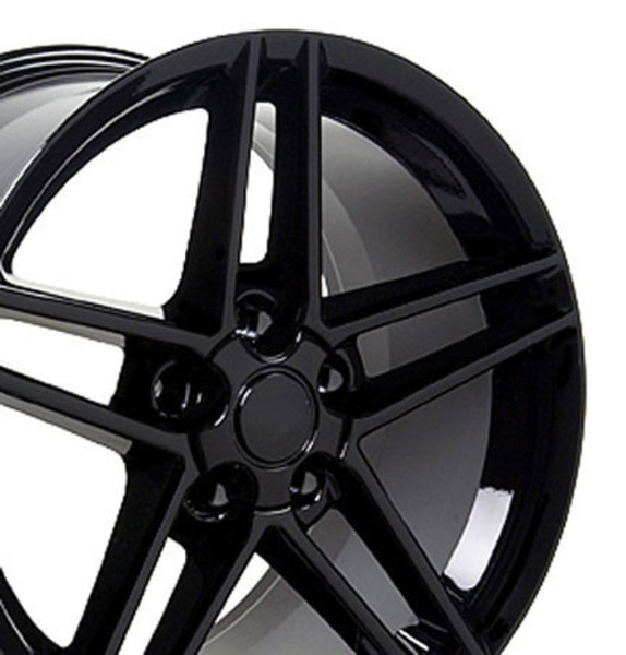 "OE Wheels Corvette C6 Z06 Replica Wheel - Black 17x9.5"" (54mm Offset) - Set of 4"
