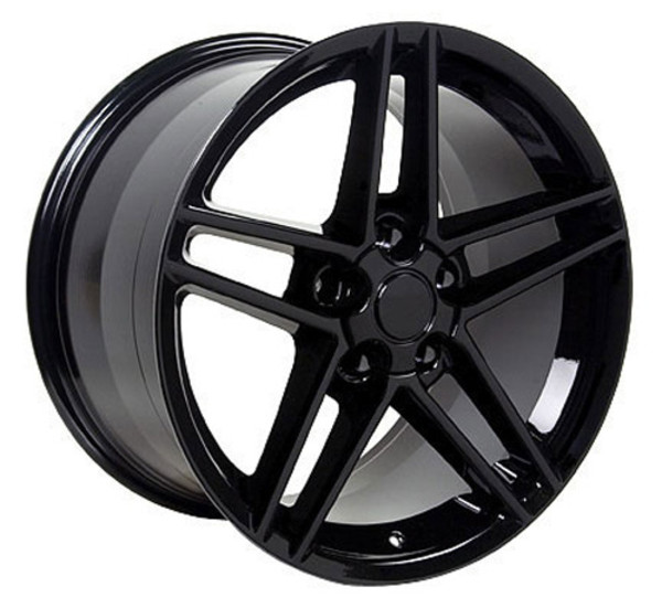 "OE Wheels Corvette C6 Z06 Replica Wheel -  Black w/Red band 17x9.5""/18x9.5"" Set (54mm/56mm Offset)"