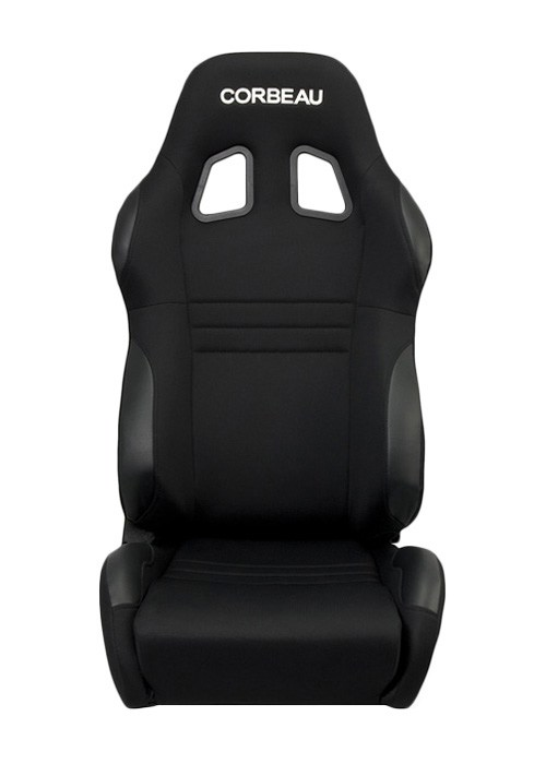 Corbeau A4 Seats - Black Cloth