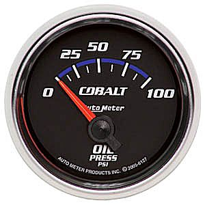 "Auto Meter Cobalt Series Short Sweep 2 1/16"" Oil Pressure Gauge - 0-100 PSI"