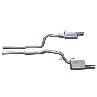 2005-2010 Ford Mustang GT Gibson Performance Aluminized Catback Exhaust System
