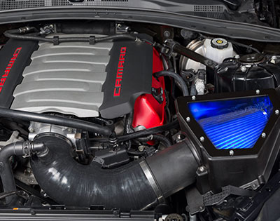 2016+ Camaro SS 6.2L V8 SLP Cold Air Intake w/LED Lighting
