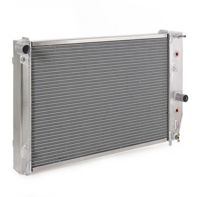 97-04 C5 Corvette BeCool Direct Fit Aluminum Radiator - Natural Finish w/Transmission Cooler Fittings