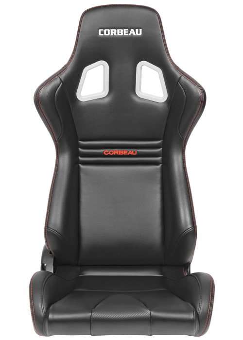 Corbeau Sportline Evolution Seats - Black Vinyl/Carbon Vinyl