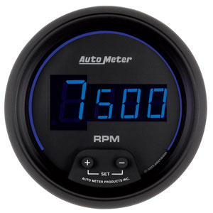 "Auto Meter Z Series Digital 2 1/16"" In Dash Tachometer - 0-10k RPM"